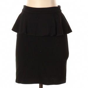 Alice + olivia employed black peplum skirt